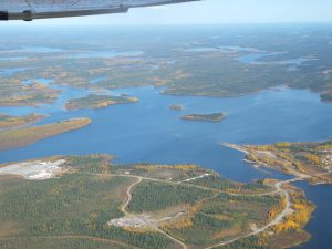 Aerial view of Kasabonika Lake First Nation