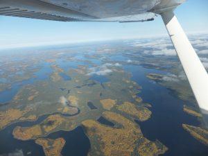 Aerial view of Kasabonika Lake