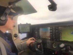 Julian Falconer Piloting Falconair