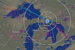 flight path map of ontario